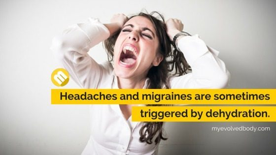 headache and migraine due to dehydration