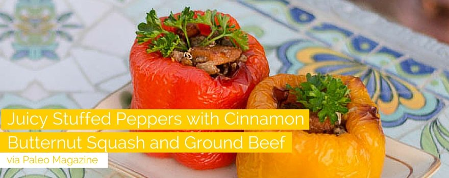 Juicy Stuffed Peppers with Cinnamon Butternut Squash and Ground Beef Recipe