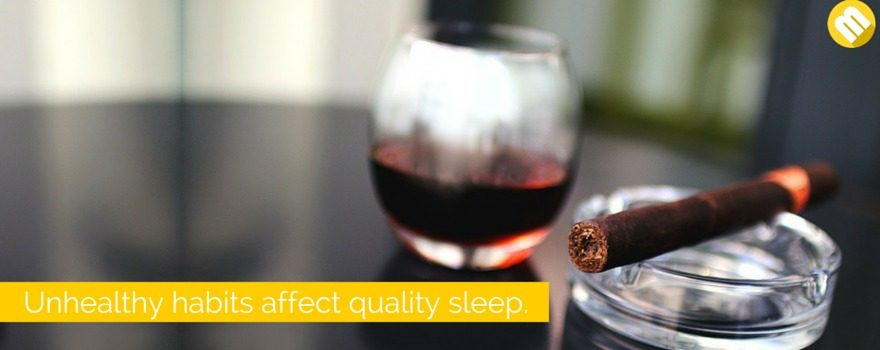 alcohol hampers your sleep