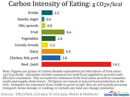 ideal diet for reducing carbon footprint
